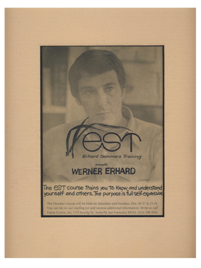 Werner Erhard Photo Experience
